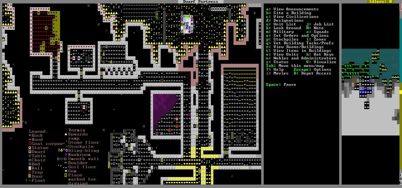 Best Indie Game- Screenshot of Dwarf Fortress