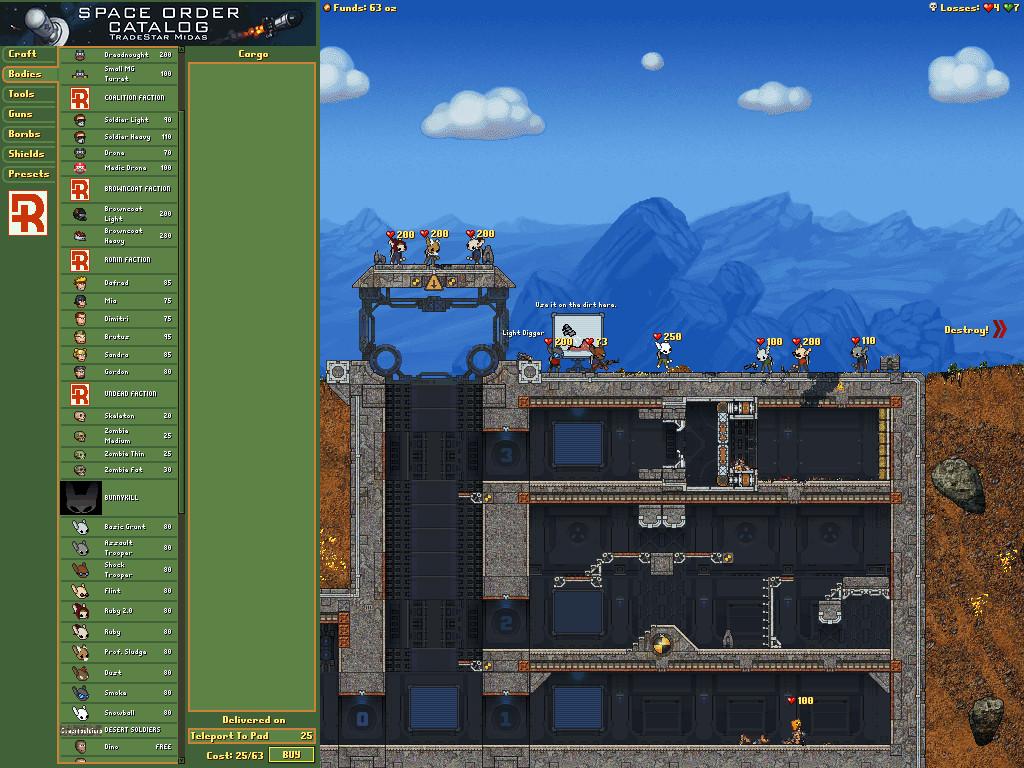 Best Indie Game - Screenshot of Cortex Command
